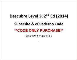 Descubre, Level 3 by Vista Higher Learning (2014, Hardcover) VERY GOOD