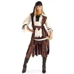 Caribbean Pirate Babe Ladies Fancy Dress Costume