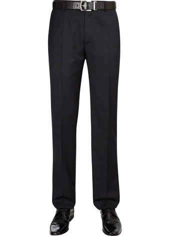 Austin Reed Slim Fit Navy Check Trousers LONG MENS 36