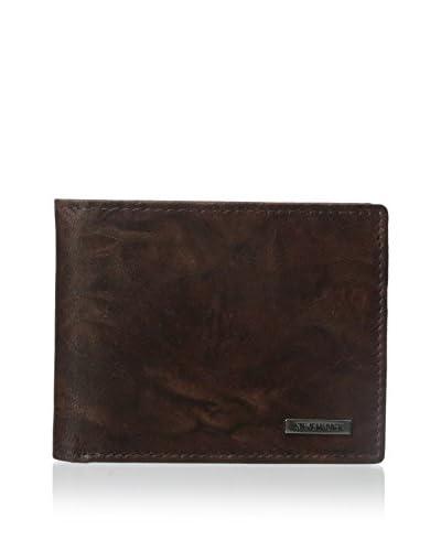 Steve Madden Men's Crunch Passcase Wallet, Brown, One Size