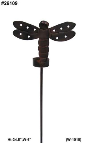 Dragon Fly shaped Garden stake and T Lite candle holder