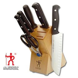 J.A. Henckels International Fine Edge Pro 7-Piece Knife Set with Block