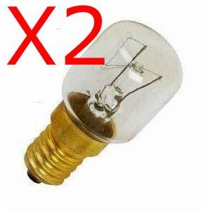 Everedy Lot de 2 ampoules de four E14/SES 300°C 15W