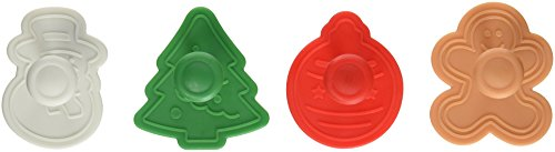 R & M International 495 Pastry/Cookie/Fondant Stamper, approx 2-Inch, Christmas Theme (Fondant Cookie Cutters compare prices)