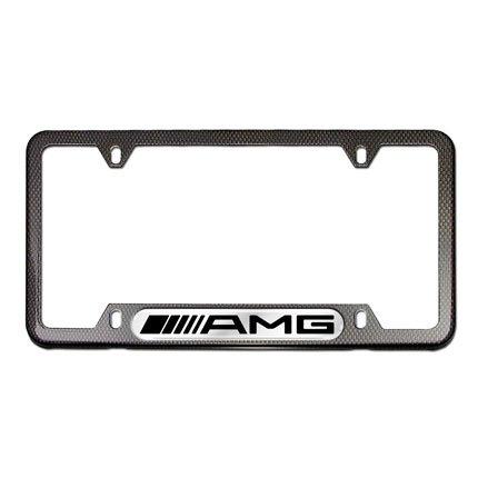 LEXUS 3D Emblem BLACK ON Black Stainless Steel License Plate Frame