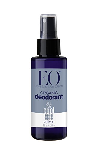 EO Organic Deodorant Spray Vetiver 4 Ounce (Pack of 24)