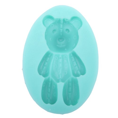 Iclover Food Grade Silicone Fondant Mold Cake Mold,Diy Cake Decorating-Cute Bear Shape For Baking Delicious Cakes Chocolate And Fancy