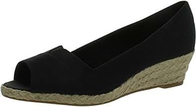 Lifestride Women Lioness Flats-Shoes,Black Silk,6