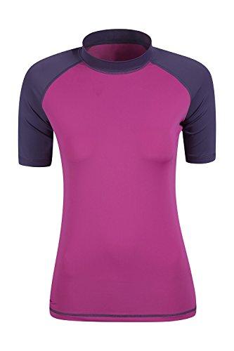 Mountain Warehouse Rash Vest UV da donna Viola scuro 44