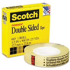 Best Price 3M 665 Double-Sided Tape 1 2 x 900 - ClearB00006IF61