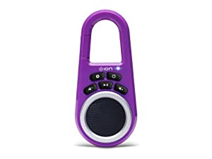 ION Clipster Ultra-Portable Bluetooth Speaker with Built-In Clip (Purple)