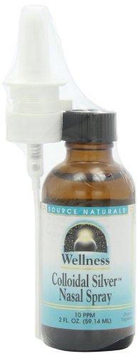 Source Naturals Wellness Colloidal Silver Nasal Spray, 10 ppm, 2 Fluid Ounce