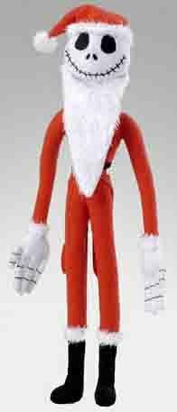 【Amazonの商品情報へ】ナイトメアー・ビフォア・クリスマス ポーズぐるみ ジャック・スケリントン サンタバージョン