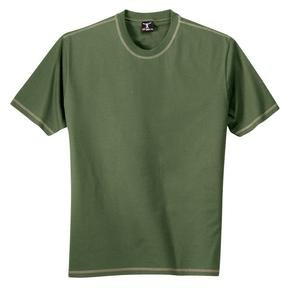 Buy Hanes Beefy Tee – Contrast Stitch Tee Pine/Pebble-2XL