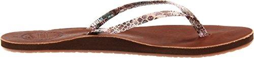 Reef Women's Leather Uptown Luxe Flip Flop,Multi/Snake,10 M US