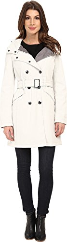 Calvin Klein Womens Double Breasted Coat w/ Rib Detail