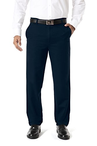 Barata Men's 100% Cotton Chinos Trouser For Men Regular Fit, Navy Blue Chino Pant