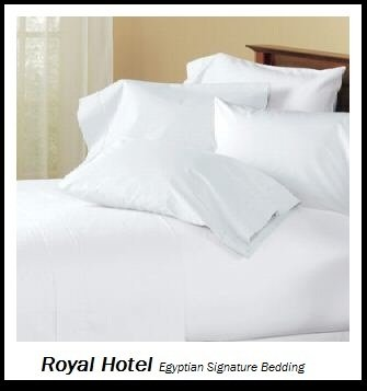 Royal Hotel's Solid White 1400 Thread Count 4pc Queen Bed Sheet Set 100% Egyptian Cotton, Sateen Solid, Deep Pocket