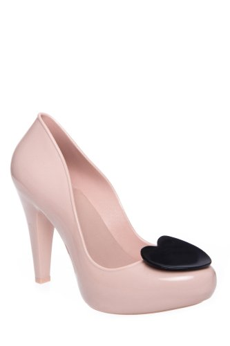Mel Raspberry High Heel Jelly Pump