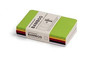 Writersblok Bamboo Mini Notebook, Ruled, Pack of 5, 2.5 x 4-Inches (WBB601)
