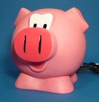 Kinder-Nachttisch-Lampe LUSTIGES SCHWEIN ca. 25 cm x 20 cm x 20 cm (UK-Import)