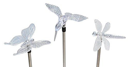 Solar Wholesale Kb104-E Hummingbird, Butterfly And Dragonfly Garden Stake Lights For Garden Decoration And Flower Beds