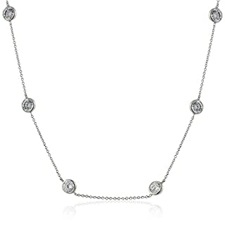 Lisa Freede Jewelry Rhodium-Plated Kate Chain Necklace, 36