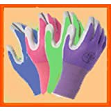 4 Pack Atlas Glove NT370 Atlas Nitrile Garden Gloves - Large (Assorted Colors)