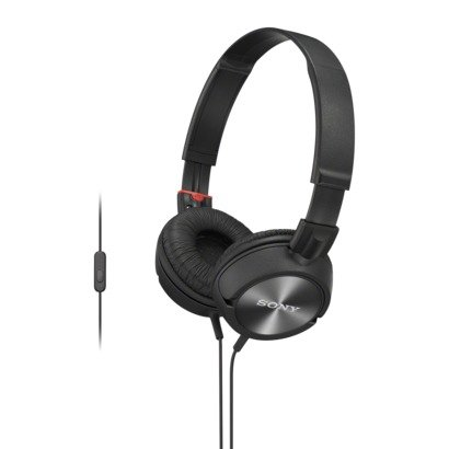Sony Lightweight Zx Series On-Ear Headphones With In-Line Microphone And Remote Control For Android Phones (Black)