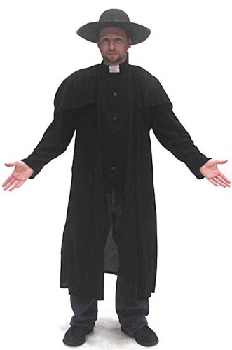 Deluxe Priest Halloween Costume for Men
