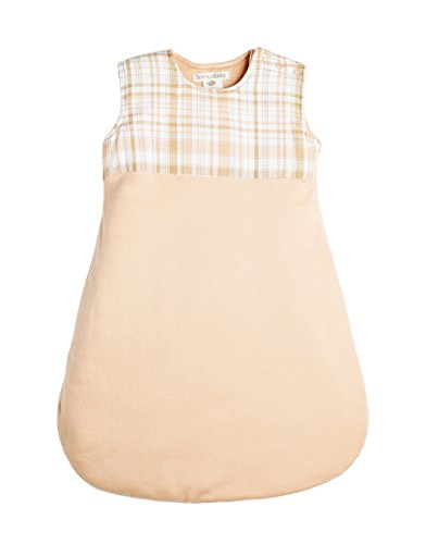 Spence Baby Girl Organic Cotton Peach White & Tan Sleeper Bag, Sleep Sack (3-6 Months)