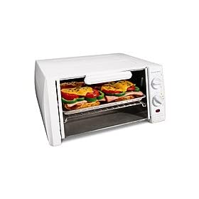 Proctor Silex 31115 4-Slice Toaster Oven/Broiler, White