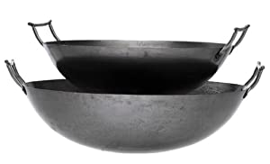 Eastman Outdoors 37208 Deep Dish Carbon Steel Wok (22-inches) by Eastman Outdoors