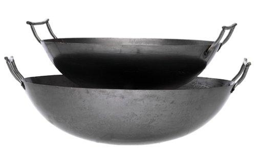 Eastman Outdoors 37208 Deep Dish Carbon Steel Wok 22