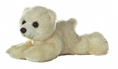 "Aurora MINI FLOPSIE 8"" ARTIC The POLAR BEAR"