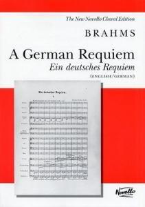 Johannes Brahms A German Requiem Vocal Score by Music Sales