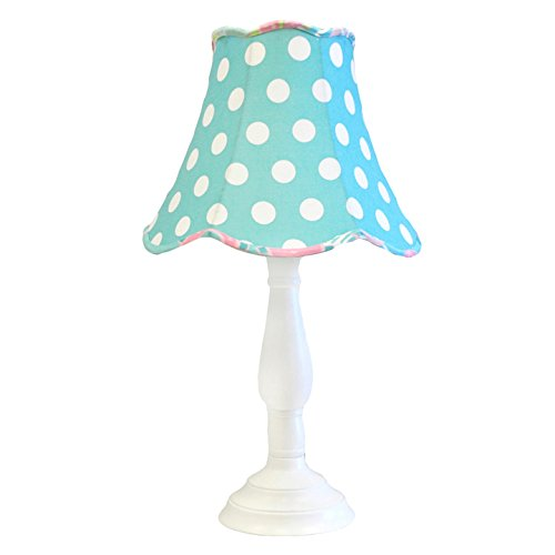 My Baby Sam Pixie Baby Lamp Shade/Base, Aqua and Pink