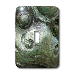 Florene Decorative - Green Dragon - Light Switch Covers - single toggle switch