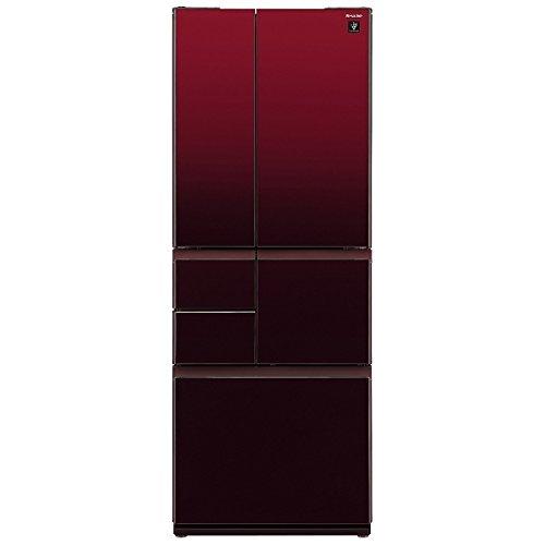 シャープ 551L 6ドア冷蔵庫(グラデーションレッド)SHARP プラズマクラスター冷蔵庫 SJ-GT55B-R