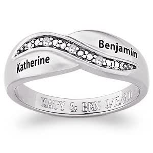 sterling silver couples promise name
