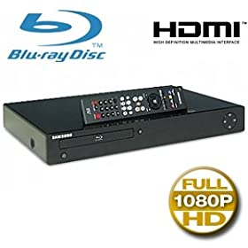 Samsung BD-P1500 Blu-Ray Player - 1080p, HDMI, USB 2.0, Remote Control, (Open Box)