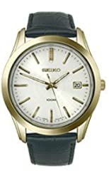 Seiko Embossed Leather White Dial Men's watch #SGEE48P1