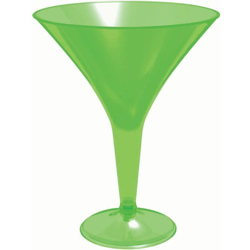 Green Martini Glasses, 20pk - 1