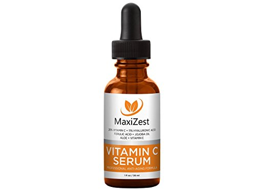 Vitamin C Serum For Face and Skin - With 20% Vitamin C + E + Hyaluronic Acid - Our #1 BEST Serum to Fade Sun Spots & Discoloration - Rejuvenates & Brightens Skin - Guaranteed Glow! - 1oz (30ml)