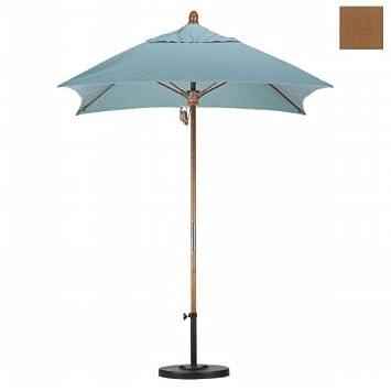 Amazing  u Square Fiberglass Market Umbrella Fabric Sunbrella A Canvas Teak
