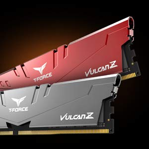 TEAMGROUP T-Force Vulcan Z DDR4 16GB Kit (2 x 8GB) 3200MHz (PC4 25600) CL16 Desktop Memory Module Ram - Gray - TLZGD416G3200HC16CDC01 (Color: Gray, Tamaño: 3200MHz (2x8GB))