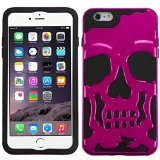 Product B00INP5XO2 - Product title MyBat APPLE iPhone 6 Plus Skullcap Hybrid Protector Cover - Retail Packaging - Black/Pink