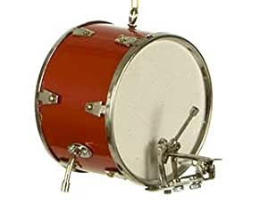 Amazon.com - Personalized Red Bass Drum Christmas Ornament ...