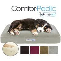 Simmons Comforpedic Orthopedic Napper Memory Foam Pet Bed, 35 by 44 by 4-Inch, Green