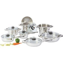 Chef'S Secretâ® 14Pc Heavy-Gauge Stainless Steel Cookware Set , 14Pcs Cookware Set front-421216